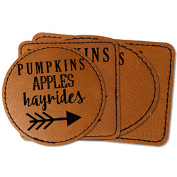 Fall Quotes and Sayings Faux Leather Iron On Patch