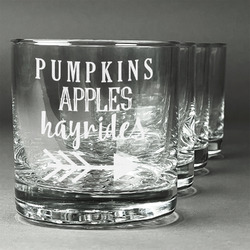 Fall Quotes and Sayings Whiskey Glasses (Set of 4) (Personalized)