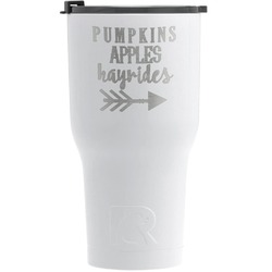 Fall Quotes and Sayings RTIC Tumbler - White (Personalized)