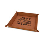 """Family Quotes and Sayings 6"""" x 6"""" Faux Leather Valet Tray"""