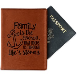Family Quotes and Sayings Leatherette Passport Holder (Personalized)