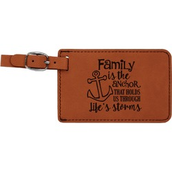 Family Quotes and Sayings Leatherette Luggage Tag (Personalized)