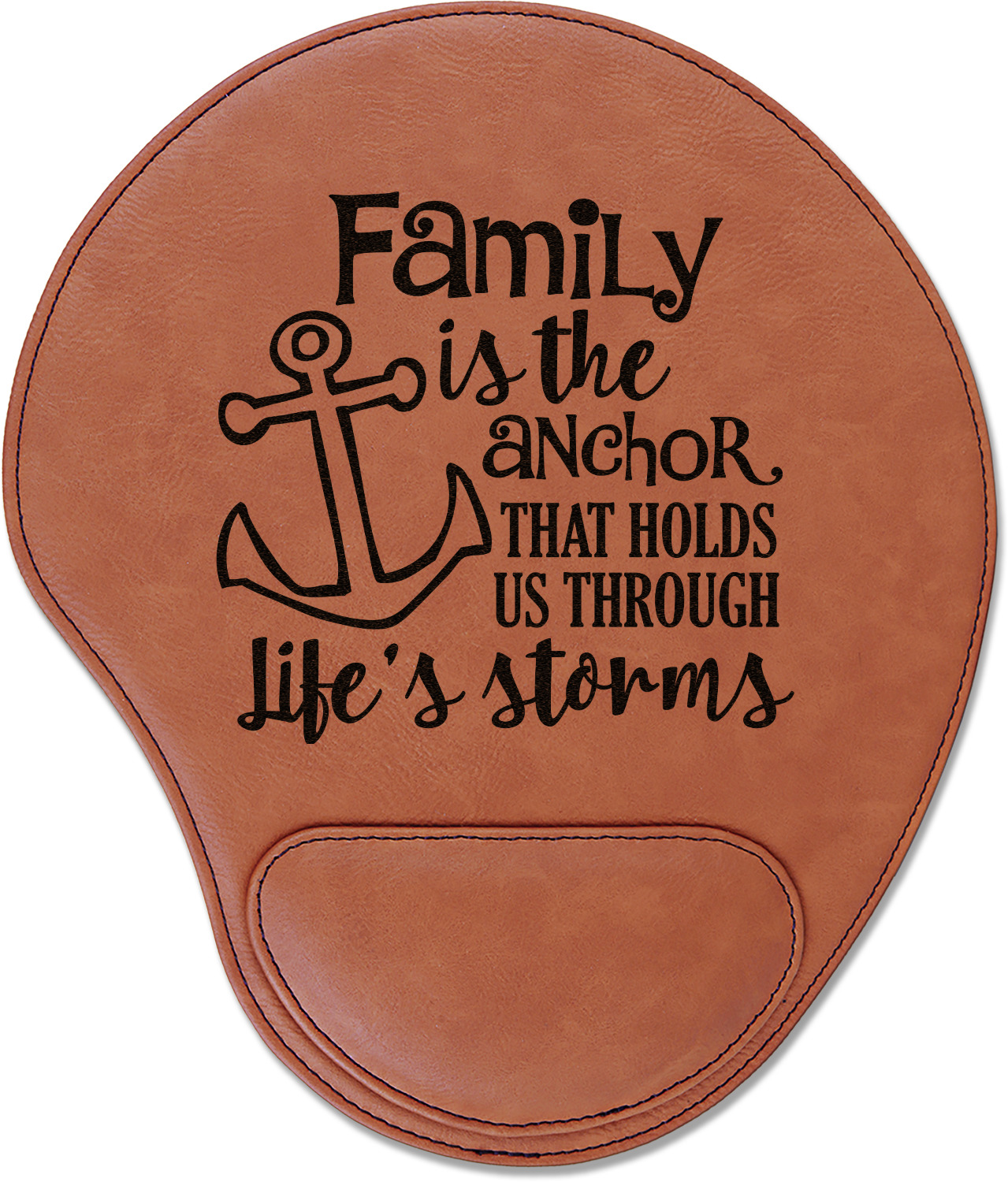 Family Quotes And Sayings Leatherette Mouse Pad With Wrist Support