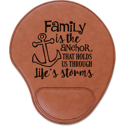 Family Quotes and Sayings Leatherette Mouse Pad with Wrist Support (Personalized)