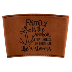 Family Quotes and Sayings Leatherette Mug Sleeve (Personalized)