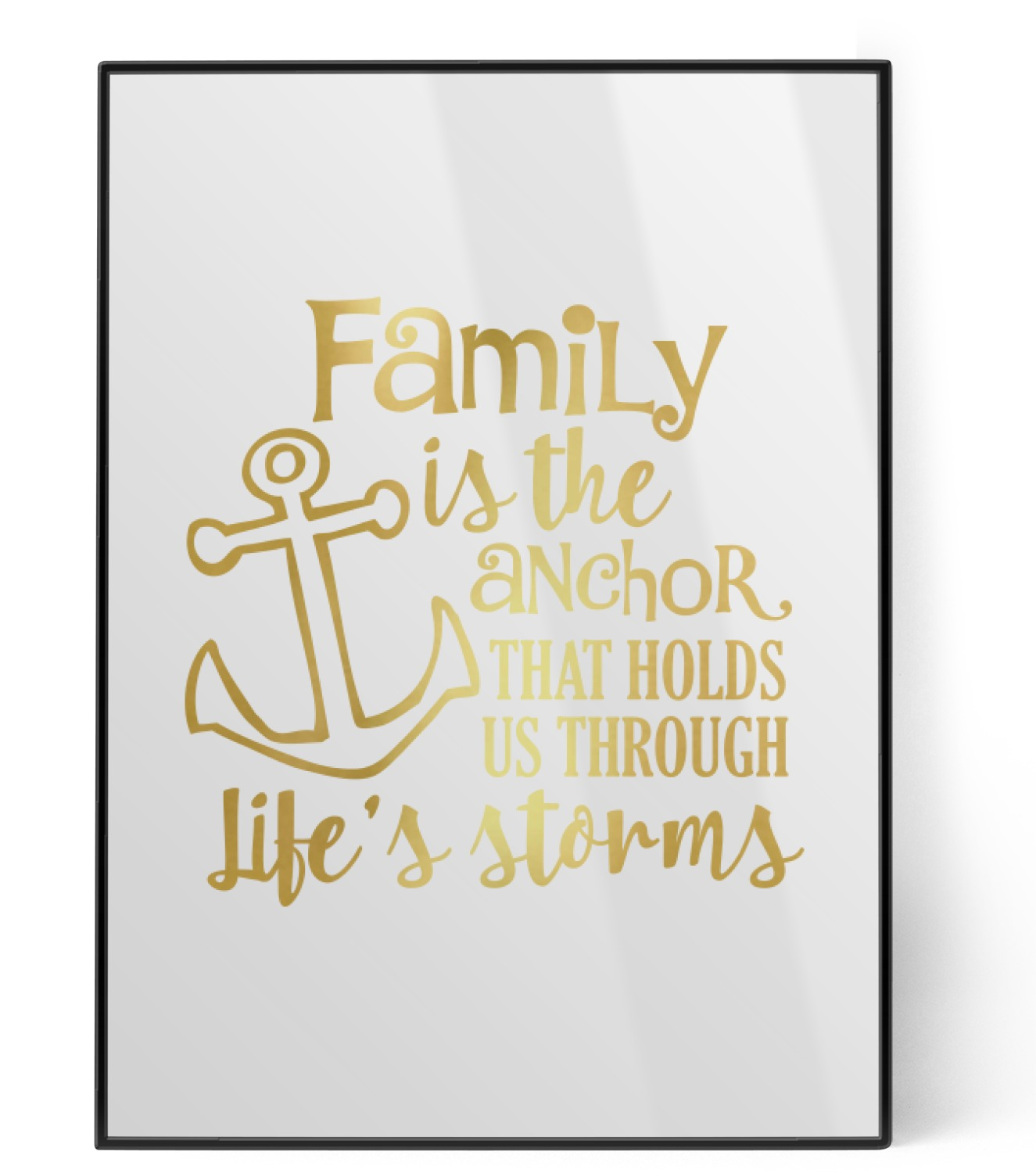 family quotes and sayings foil print personalized youcustomizeit