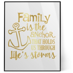Family Quotes and Sayings 8x10 Foil Wall Art - White (Personalized)