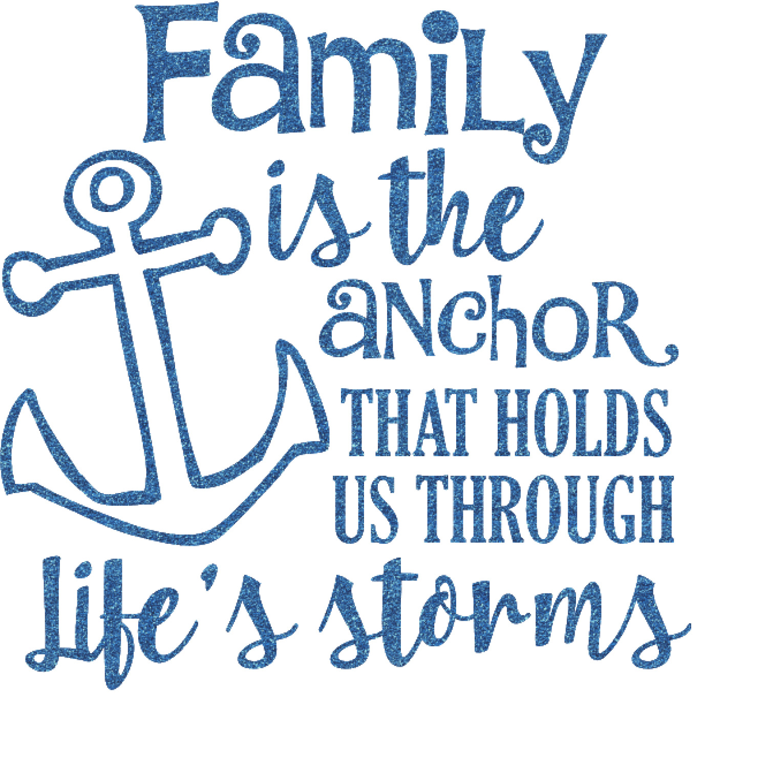 Quotes About Family: Family Quotes And Sayings Glitter Sticker Decal