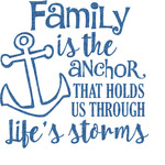 Family Quotes and Sayings Glitter Sticker Decal - Custom Sized (Personalized)