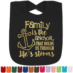 Family Quotes and Sayings Foil Toddler Bibs (Select Foil Color) (Personalized)