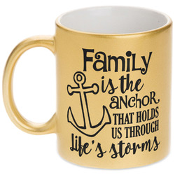 Family Quotes and Sayings Gold Mug (Personalized)