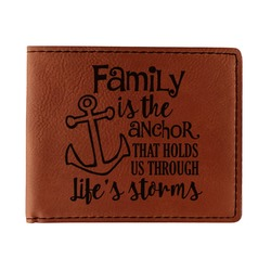 Family Quotes and Sayings Leatherette Bifold Wallet (Personalized)