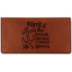 Family Quotes and Sayings Leatherette Checkbook Holder (Personalized)
