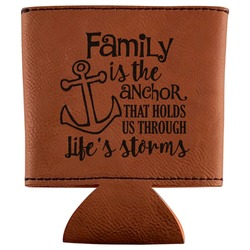 Family Quotes and Sayings Leatherette Can Sleeve (Personalized)