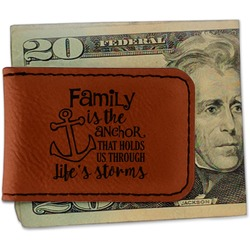 Family Quotes and Sayings Leatherette Magnetic Money Clip (Personalized)