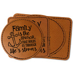 Family Quotes and Sayings Faux Leather Iron On Patch