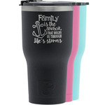 Family Quotes and Sayings RTIC Tumbler - Black (Personalized)