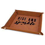 """Glitter / Sparkle Quotes and Sayings 9"""" x 9"""" Leather Valet Tray"""