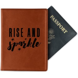 Glitter / Sparkle Quotes and Sayings Leatherette Passport Holder (Personalized)