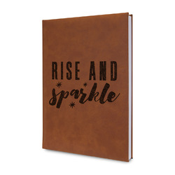 Glitter / Sparkle Quotes and Sayings Leatherette Journal (Personalized)