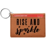 Glitter / Sparkle Quotes and Sayings Leatherette Keychain ID Holder (Personalized)