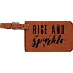 Glitter / Sparkle Quotes and Sayings Leatherette Luggage Tag (Personalized)