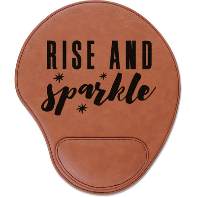 Glitter / Sparkle Quotes and Sayings Leatherette Mouse Pad with Wrist Support (Personalized)