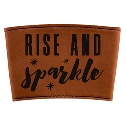 Glitter / Sparkle Quotes and Sayings Leatherette Mug Sleeve (Personalized)