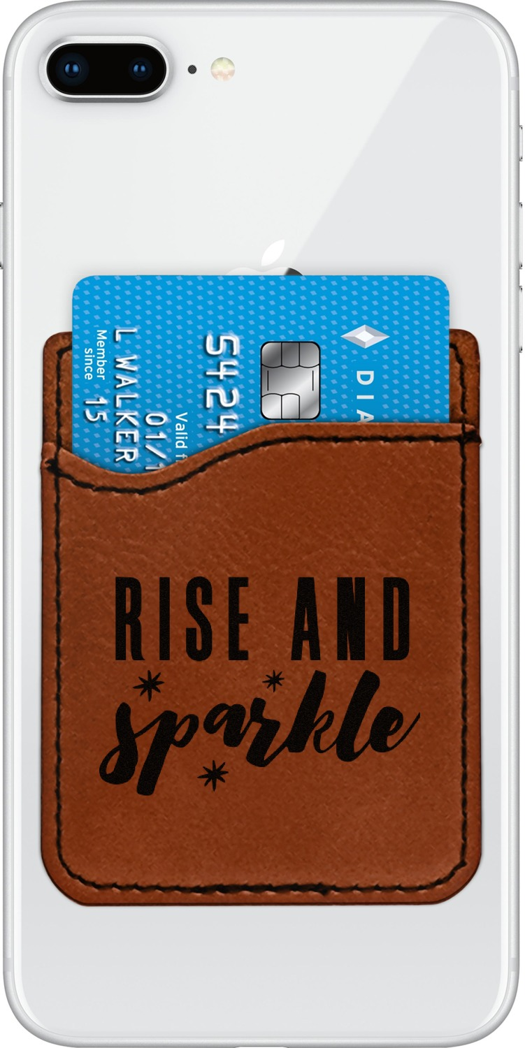 Glitter / Sparkle Quotes and Sayings Leatherette Phone Wallet (Personalized)