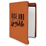 Glitter / Sparkle Quotes and Sayings Leatherette Zipper Portfolio with Notepad (Personalized)