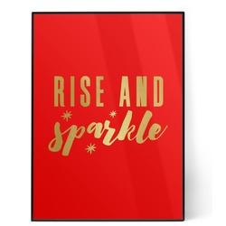 Glitter / Sparkle Quotes and Sayings 5x7 Red Foil Print (Personalized)