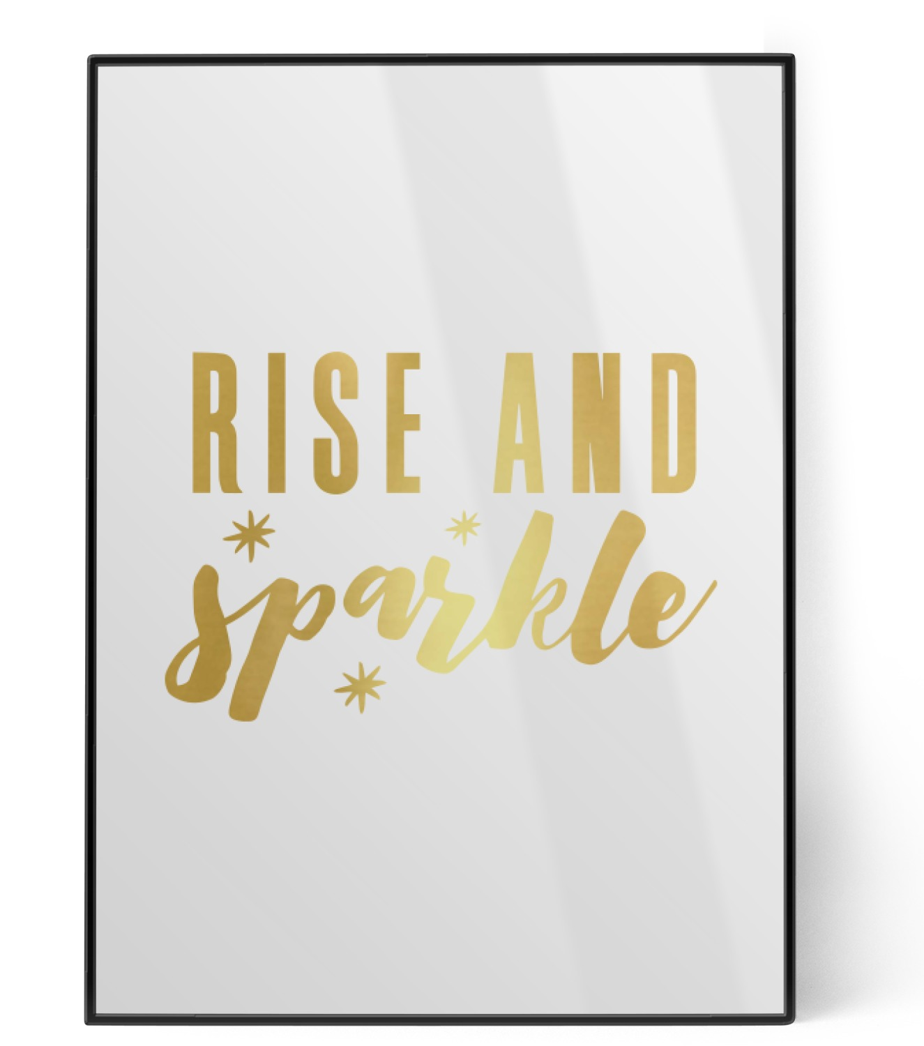 Glitter / Sparkle Quotes and Sayings Foil Print (Personalized)
