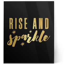Glitter / Sparkle Quotes and Sayings 8x10 Foil Wall Art - Black (Personalized)