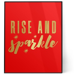 Glitter / Sparkle Quotes and Sayings 8x10 Foil Wall Art - Red (Personalized)