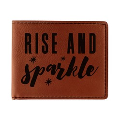 Glitter / Sparkle Quotes and Sayings Leatherette Bifold Wallet - Single Sided (Personalized)
