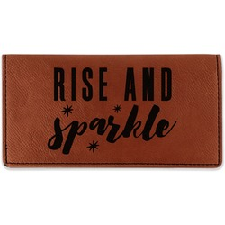 Glitter / Sparkle Quotes and Sayings Leatherette Checkbook Holder (Personalized)