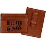 Glitter / Sparkle Quotes and Sayings Leatherette Wallet with Money Clip (Personalized)