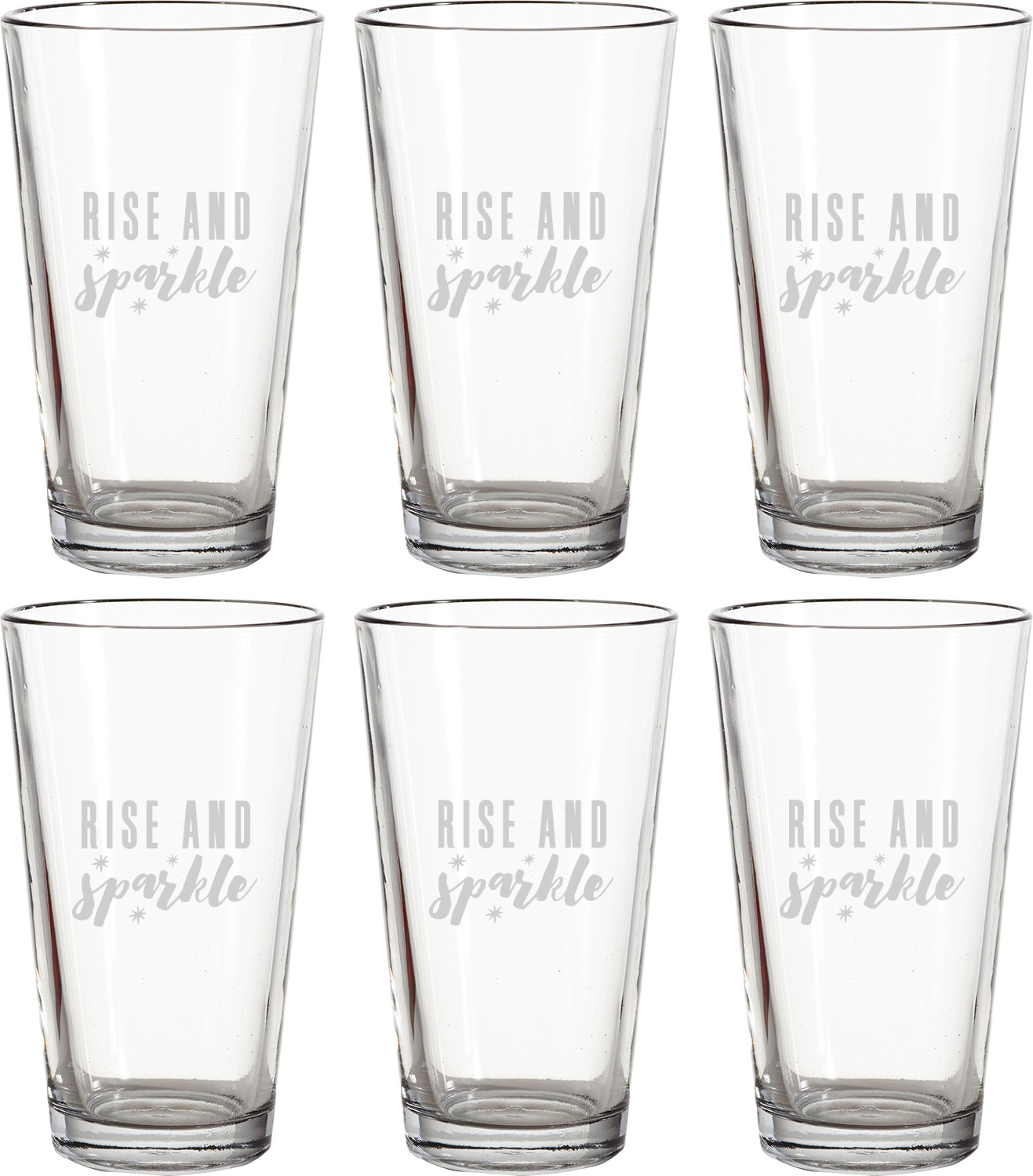 how to make drinking glasses sparkle