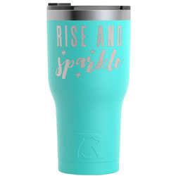 Glitter / Sparkle Quotes and Sayings RTIC Tumbler - Teal - Engraved Front (Personalized)