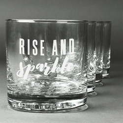 Glitter / Sparkle Quotes and Sayings Whiskey Glasses (Set of 4) (Personalized)