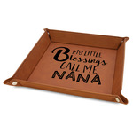 """Grandparent Quotes and Sayings 9"""" x 9"""" Leather Valet Tray"""