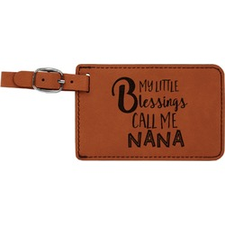 Grandparent Quotes and Sayings Leatherette Luggage Tag (Personalized)