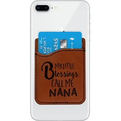 Grandparent Quotes and Sayings Leatherette Phone Wallet (Personalized)