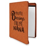 Grandparent Quotes and Sayings Leatherette Zipper Portfolio with Notepad (Personalized)