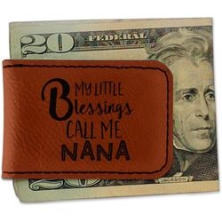 Grandparent Quotes and Sayings Leatherette Magnetic Money Clip (Personalized)