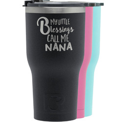 Grandparent Quotes and Sayings RTIC Tumbler - Black (Personalized)