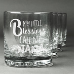 Grandparent Quotes and Sayings Whiskey Glasses (Set of 4) (Personalized)