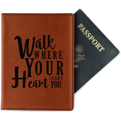 Heart Quotes and Sayings Leatherette Passport Holder (Personalized)