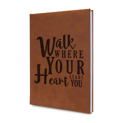 Heart Quotes and Sayings Leatherette Journal (Personalized)