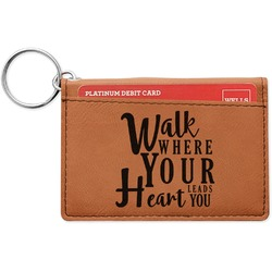 Heart Quotes and Sayings Leatherette Keychain ID Holder (Personalized)